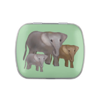 The Elelphant Jungle Jelly Belly Candy Tin