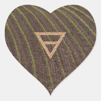 The Element Earth Symbol Heart Sticker