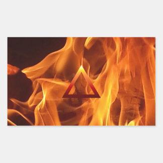 The Element Fire Symbol Rectangular Stickers