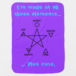 The Element of Cute Baby Wicca Blanket