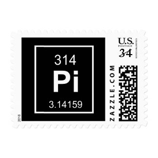 The Element of Pi Postage Stamps