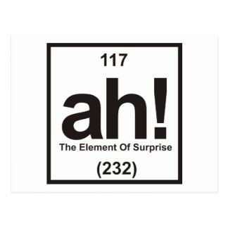 The Element of Surprise Postcard