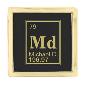 The Element of You! Custom Name Periodic Table Gold Finish Lapel Pin