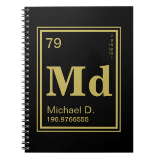 The Element of You! Custom Name Periodic Table Notebook