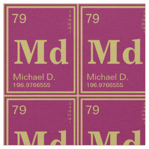 Periodic table elements fabric zazzle the element of you custom periodic table magenta fabric urtaz Image collections
