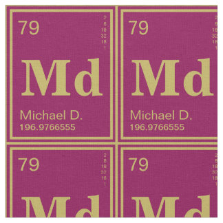 The Element of You! Custom Periodic Table Magenta Fabric