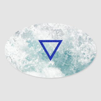 The Element Water Symbol Oval Sticker