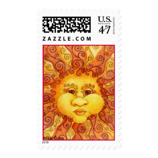 The Elements - Fire Postage Stamp