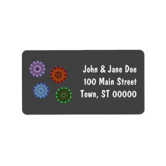The Elements Mandalas Address Label