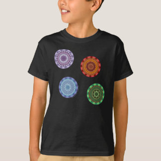 The Elements Mandalas Kid's and Baby Dark Shirt