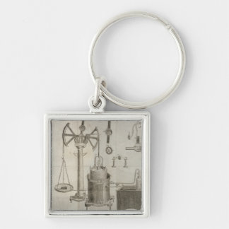 The Elements of Chemistry' Silver-Colored Square Keychain