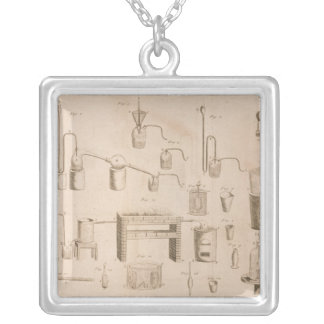 The Elements of Chemistry' Silver Plated Necklace