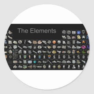 The Elements - Periodic Table Classic Round Sticker