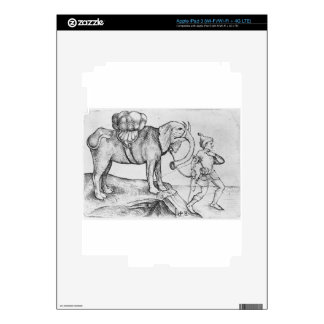 The elephant and his trainer by Martin Schongauer Decals For iPad 3