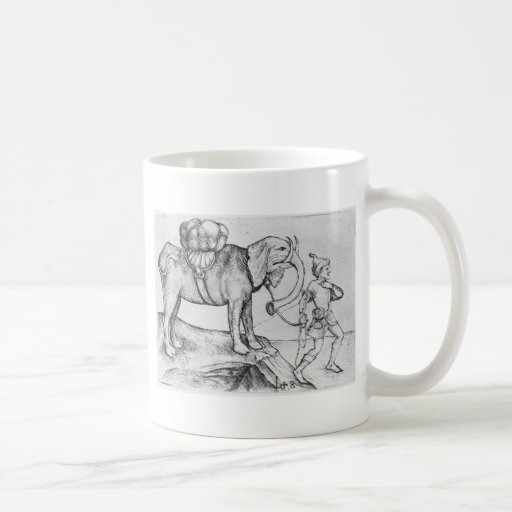 The elephant and his trainer by Martin Schongauer Classic White Coffee Mug
