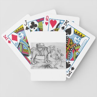 The elephant and his trainer by Martin Schongauer Bicycle Playing Cards