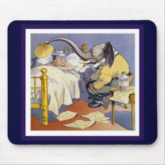 The Elephant and Taft Mouse Pads