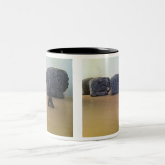 The elephant and tower eiffel Two-Tone coffee mug