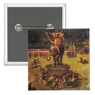 The Elephant Carousel Pinback Button