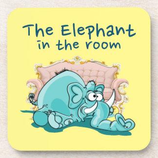 The Elephant In The Room Cartoon Coaster