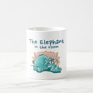 The Elephant In The Room Cartoon Coffee Mug