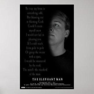 The Elephant Man Poem Poster