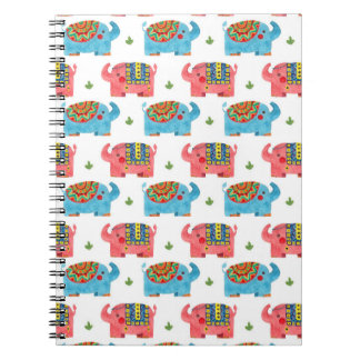 The Elephant Pattern Spiral Notebooks