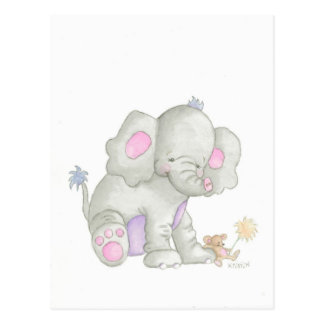 The Elephant Postcard