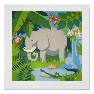 The Elephant poster print