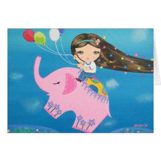The Elephant Rider Card