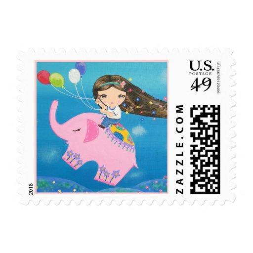 The Elephant Rider Stamp