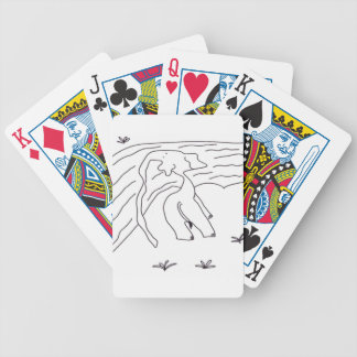 The Elephant With The Really, Really, Long Nose Bicycle Playing Cards