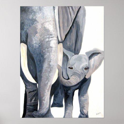 The Elephants (Kimberly Turnbull Art) Poster