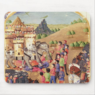The Elephants of War Mouse Pad