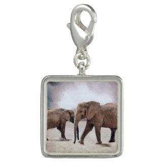 The Elephants Photo Charm