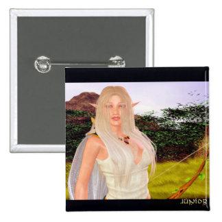 The Elfin Archer 2 Inch Square Button