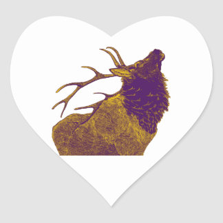 THE ELK CALL HEART STICKER