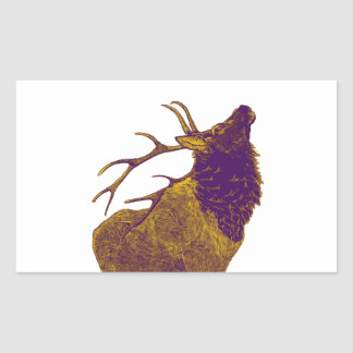 THE ELK CALL RECTANGULAR STICKER