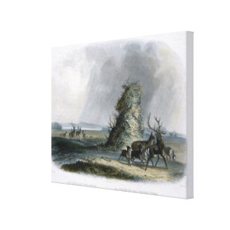 The Elkhorn Pyramid on the Upper Missouri, plate 2 Canvas Print