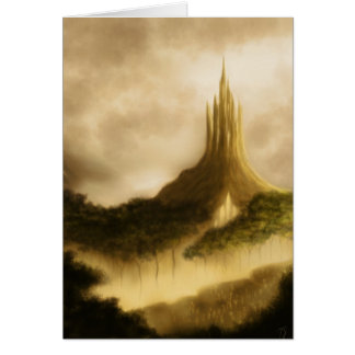 the elven kingdom fantasy art notecard
