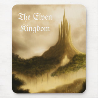the elven kingdom fantasy landscape mouse pad
