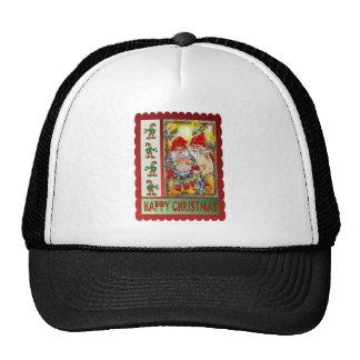The elves go carol singing trucker hat