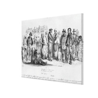 The Emancipated People, from 'La Caricature' Canvas Print