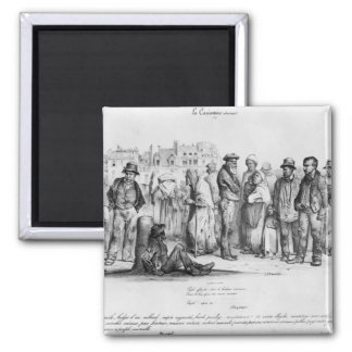 The Emancipated People, from 'La Caricature' Magnet
