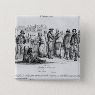 The Emancipated People, from 'La Caricature' Pinback Button