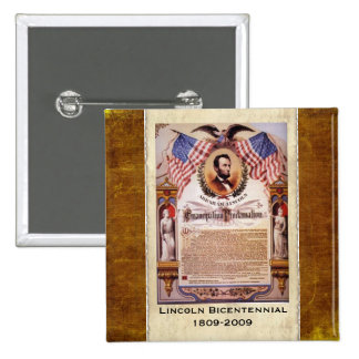 The Emancipation Proclamation Dated Button