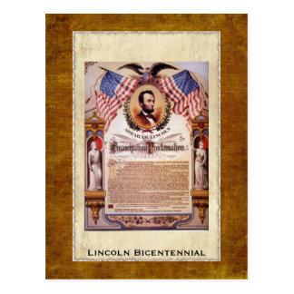 The Emancipation Proclamation Postcard