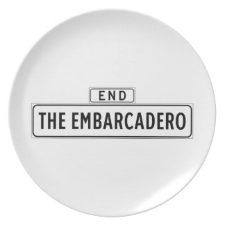 The Embarcadero, San Francisco Street Sign Dinner Plate