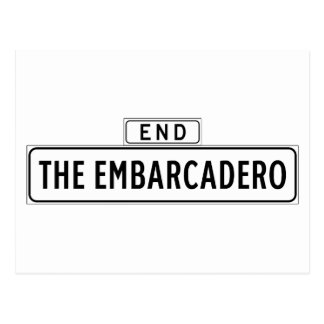 The Embarcadero, San Francisco Street Sign Postcard