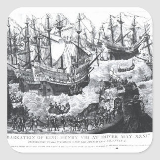 The Embarkation of Henry VIII  at Dover Square Sticker